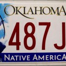 2014 Oklahoma License Plate (487JPB)