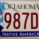2014 Oklahoma License Plate (987DPB)