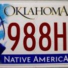 2015 Oklahoma License Plate (988HPR)