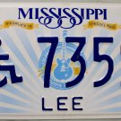 "2014 Mississippi Disabled ""Wheelchair"" License Plate (DB 73594)"