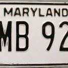 1986 Maryland License Plate (HMB 920)