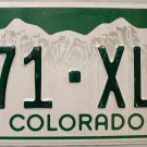 2012 Colorado License Plate (271-XLE)