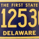 2010 Delaware License Plate (512530)