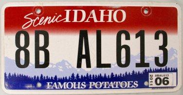 2011 Idaho License Plate (8B AL613)