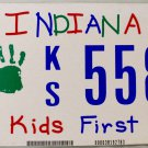 2008 Indiana Kids First License Plate (KS 5589)