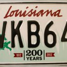 2015 Louisiana License Plate (VKB640)