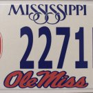 2003 Mississippi: University of Mississippi Ole Miss License Plate (2271R)