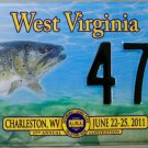 2011 Charleston, West Virginia ALPCA 57th Annual Convention License Plate (475)