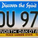 2014 North Dakota License Plate (KDU 974)