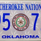 2011 Oklahoma Cherokee Nation License Plate (495 71C)
