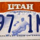 2012 Utah License Plate (B97 1NW)
