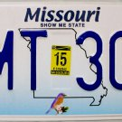 2015 Missouri License Plate (7MT 309)