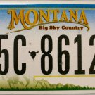 2011 Montana License Plate (5C-86128)