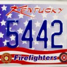 2014 Kentucky Firefighters License Plate (5442 BR)