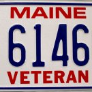 2011 Maine Veteran License Plate (V 61460)