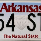 2014 Arkansas License Plate (554 STP)