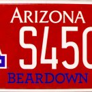 2015 Arizona: University of Arizona License Plate (S4509)