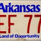 1988 Arkansas License Plate (OEF 777)