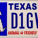 Texas Animal Friendly License Plate (D1GVM)