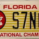 2002 Florida: Florida State University License Plate (S7NCF)
