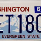 2012 Washington License Plate (AET1809)