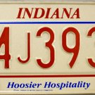 1993 Indiana License Plate (94J3937)