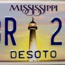 2011 Mississsippi License Plate (DBR 239)