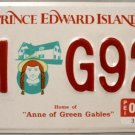1996 Canada: Prince Edward Island Motorcycle License Plate (M G92)