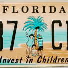 1998 Florida Invest In Children License Plate (137 CBM)