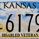 2005 Kansas Disabled Veteran License Plate (61791)