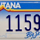 1993 Montana Disabled Veteran License Plate (1159A)
