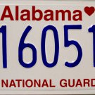 2006 Alabama National Guard License Plate (16051)