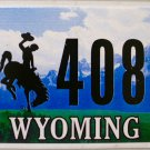 2015 Wyoming License Plate (22 40801)