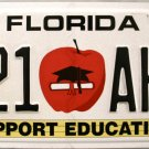 2010 Florida Support Education License Plate (521 AHE)
