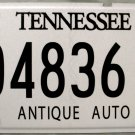 2001 Tennessee Antique Auto License Plate (04836AA)