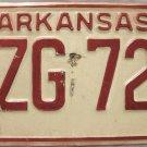 1974 Arkansas License Plate (BZG 728)