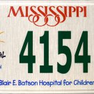 2008 Mississippi Children's Hospital License Plate (4154 CH)