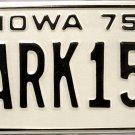 1975 Iowa License Plate (10ARK151)