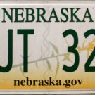 2014 Nebraska License Plate (TJT 322)