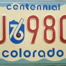 1975 Colorado Centennial License Plate (LU 9800)