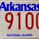 2014 Arkansas National Guard License Plate (9100)
