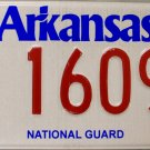 2014 Arkansas National Guard License Plate (1609)
