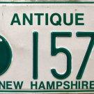 2002 New Hampshire Antique License Plate (1574)