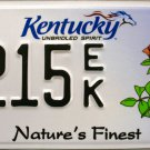 2014 Kentucky Nature's Finest Cardinal-Red Bird License Plate (2215 EK)