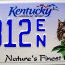 2014 Kentucky Nature's Finest Lynx License Plate (1812 EN)