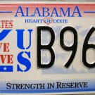 1995 Alabama Strength In Reserve License Plate (B96Z)