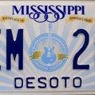 2015 Mississippi License Plate (DEM 286)