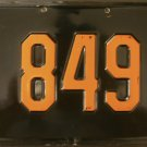 1956 1957 1958 1959 New Jersey License Plate (SI 849)