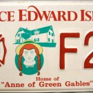 Prince Edward Island Fire Fighter License Plate Canada (F28)