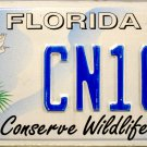 2005 Florida Conserve Wildlife Bear License Plate (CN16L)